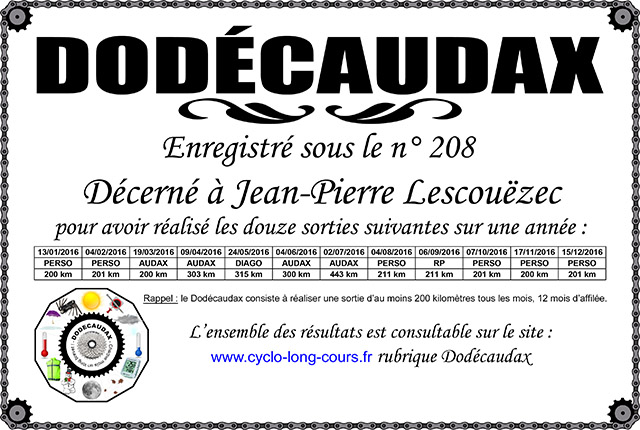 0208 Diplôme Dodécaudax Jean-Pierre Lescouëzec