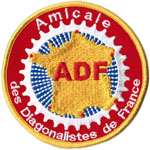 Ecusson de l&#039;ADF (Amicale des Diagonalistes de France)