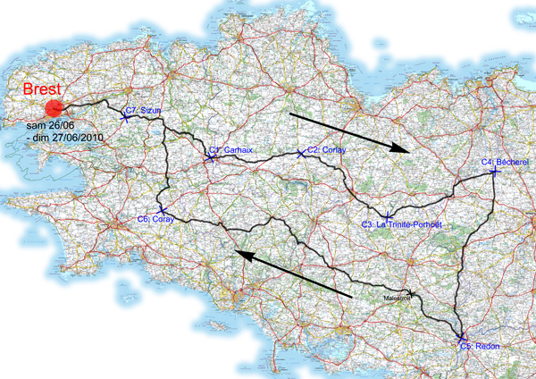 26 juin 2010 BRM 600 Km de Brest