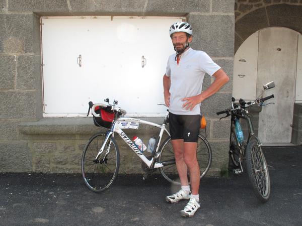 Jeff à la sortie du Pont Albert Louppe