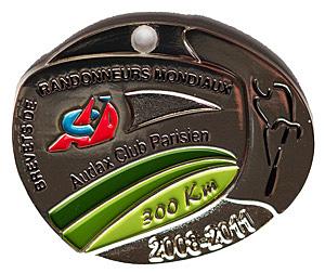 Médaille BRM 300Km, période 2008-2011