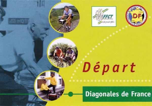 Carte postale Départ