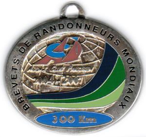 Médaille BRM 300Km, période 2004-2007