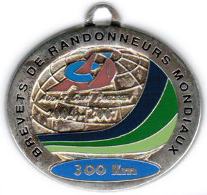 Mdaille BRM 300Km, priode 2004-2007