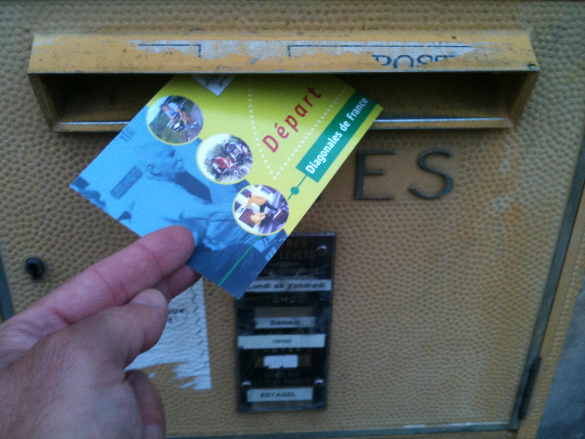 Carte Postale Départ, Perpignan-Brest 2010