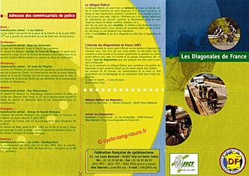 Exterieur plaquette des Diagonales de France