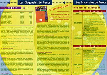 Interieur plaquette des Diagonales de France