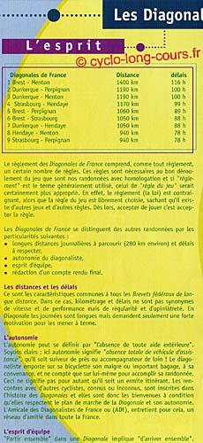 Plaquette des Diagonales de France - Volet 1