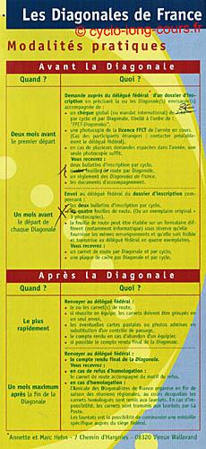 Plaquette des Diagonales de France - Volet 3