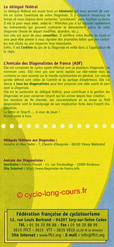 Plaquette des Diagonales de France - Volet 5