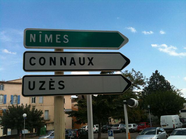 Panneau Nîmes, Connaux, Uzès