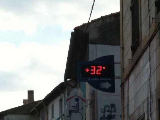 Bagnols sur Cèze : 32 degrés !
