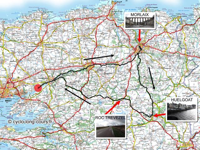 circuit de 131 Kilomètres Morlaix, Huelgoat, Roc Trévézel, Landerneau