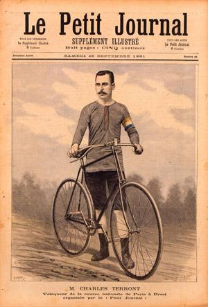 Le Petit Journal du 26 septembre 1891, Charles Terront vainqueur du premier Paris-Brest-Paris