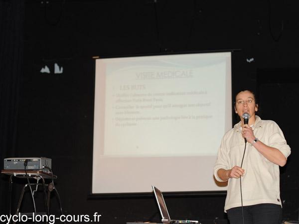 Dr Catherine ALLANORE CHOTARD : suivi médical et diététique - Photo ©cyclo-long-cours.fr