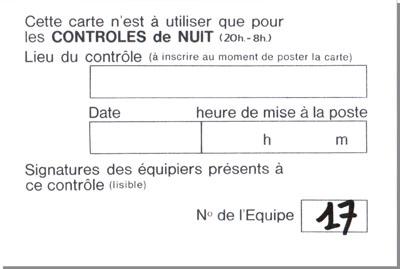 Flèche Vélocio : carte à poster pour un contrôle de nuit