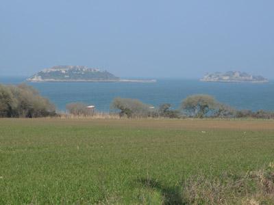 L'île des Morts et l'île Trébéron