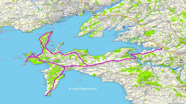 Presqu'ile de Crozon : circuit de 123 Km du 5 mars 2011