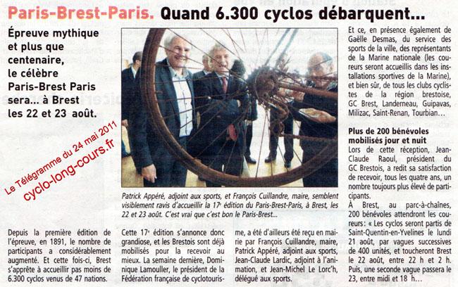 24 mai 2011, Le Télégramme : Paris-Brest-Paris