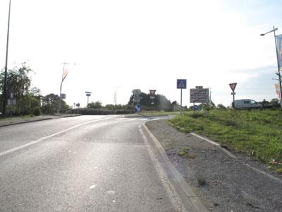 Rond point en sortie de Plougastel-Daoulas