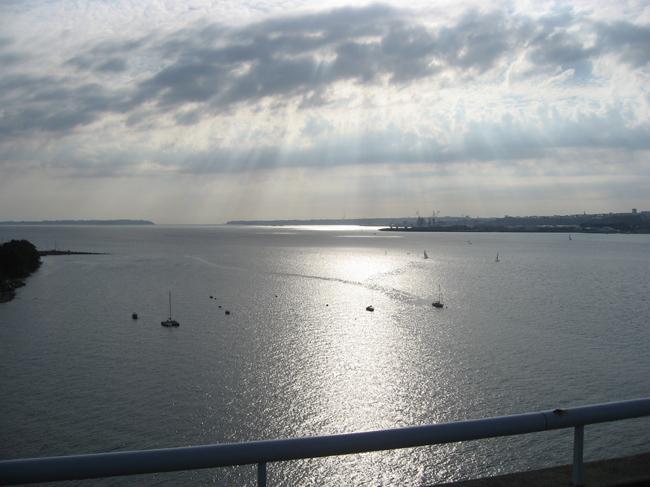 La rade de Brest vue du pont Albert Louppe