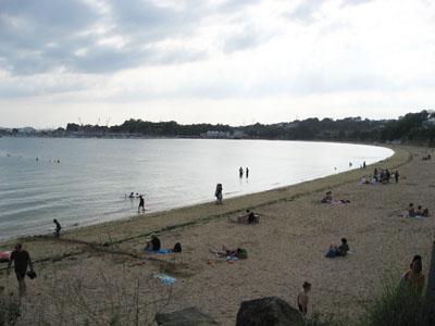 La plage du Moulin Blanc