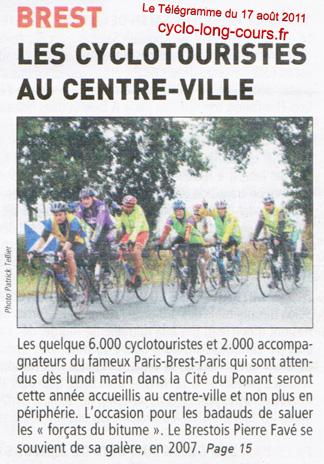 Le Télégramme de Brest du 17 août 2011