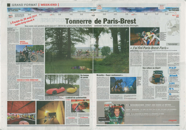 L'Equipe du 26 aot 2011 pages 14 &#038; 15