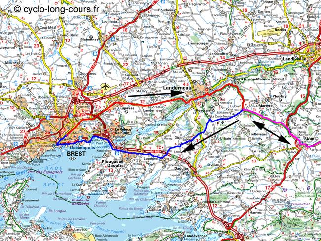 Paris-Brest-Paris : le passage à Brest