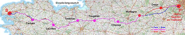 Paris-Brest-Paris 2011 : le trajet
