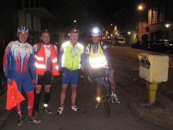 Jean-Pierre, Vivian, Philippe et Guy à Landerneau