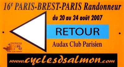 Flèche 'Retour' lors de Paris-Brest-Paris 2007