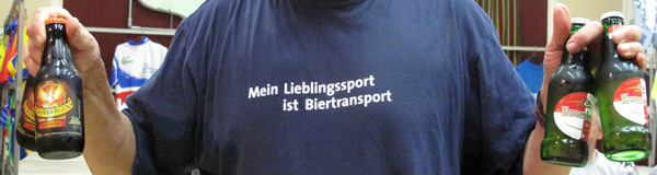 Mein Lieblingsport ist Biertransport