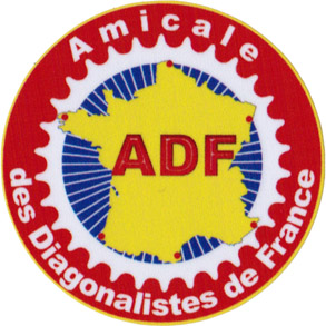 Macaron de l'ADF (Amicale des Diagonalistes de France)
