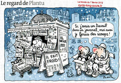 Plantu dans Le Monde du 31 janvier 2012