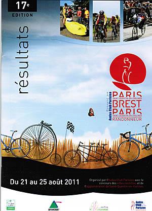 PBP 2011 : brochure résultats