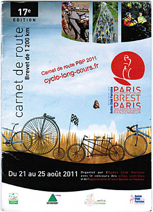 PBP 2011 : mon carnet de route homologu