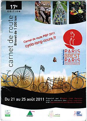 PBP 2011 : mon carnet de route homologué