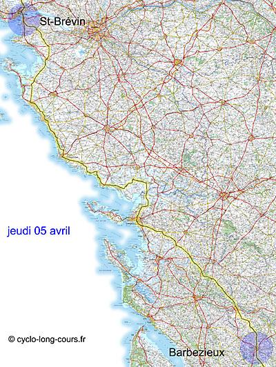 BP : 5 avril 2012 étape St-Brévin-les-Pins - Barbezieux-Saint-Hilaire
