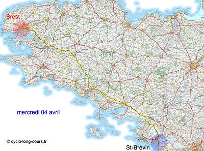 BP : 4 avril 2012 étape Brest - St-Brévin-les-Pins