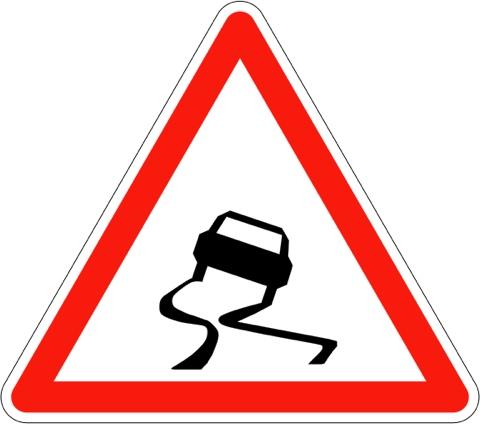 Attention route glissante !