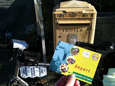 4 avril 2012 : carte postale départ de Brest-Perpignan