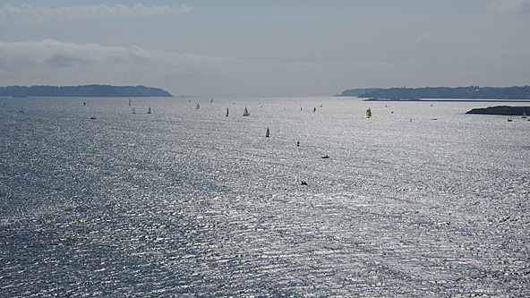 Vue sur la Rade de Brest -  cyclo-long-cours.fr