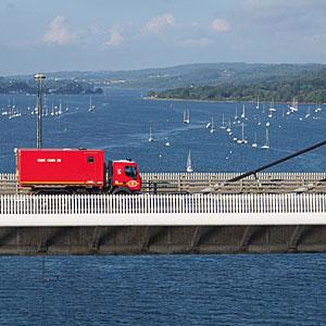 Vue sur le pont de l'Iroise - © cyclo-long-cours.fr