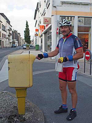 Jean-Luc au départ de la Diagonale Brest-Perpignan