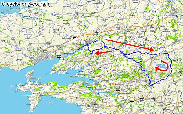 23 janvier 2013 : parcours de 110 km dans les Monts d'Arrée