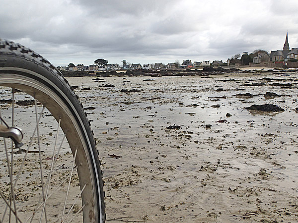 Brignogan-Plage à marée basse
