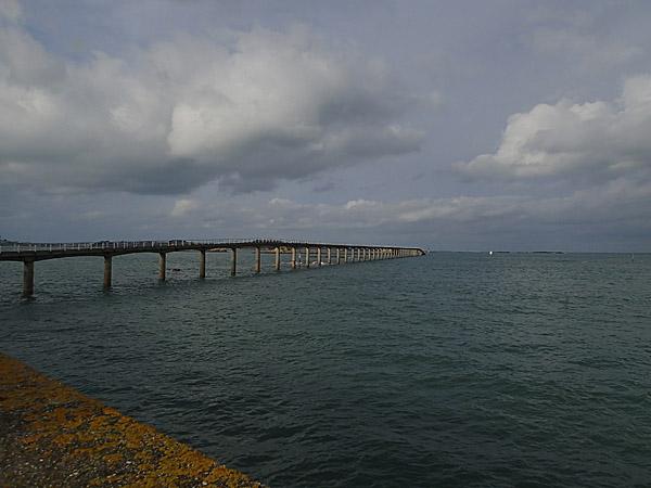 Roscoff, passerelle d'embarquement pour l'Ile de Batz (à marée basse)