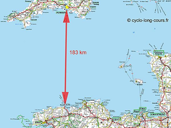 La Manche entre Roscoff et Plymouth
