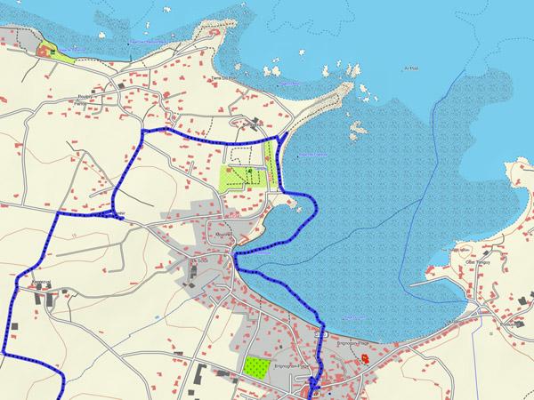 Trace GPS : Brignogan-Plage à marée basse